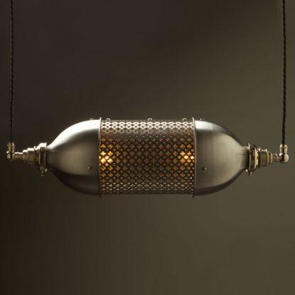 Horizontal Club&round mesh steampunk pendant
