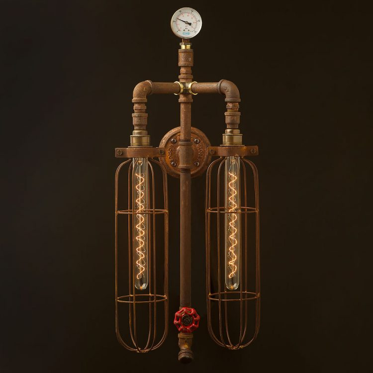 Twin-bulb-vertical-plumbing-pipe-wall-light-450mm-LED-tube