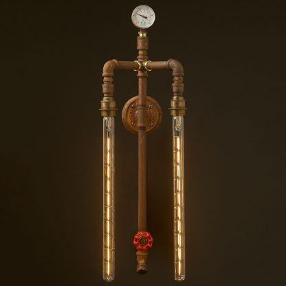 Twin-bulb-vertical-plumbing-pipe-wall-light-450mm-LED-tube