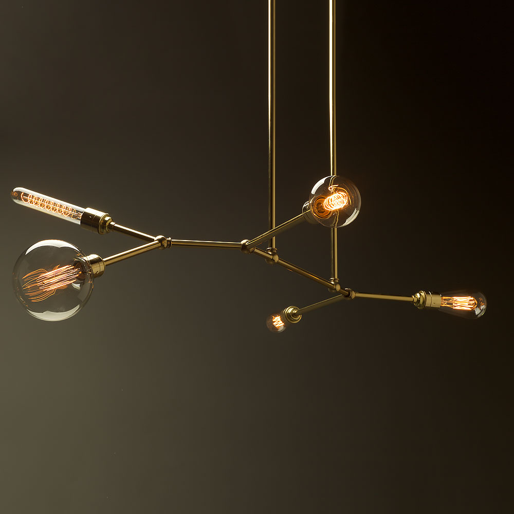 5 bulb angled brass bar chandelier aloadofball Image collections
