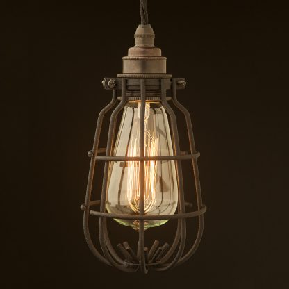 Enclosed Bulb Cage Pendant