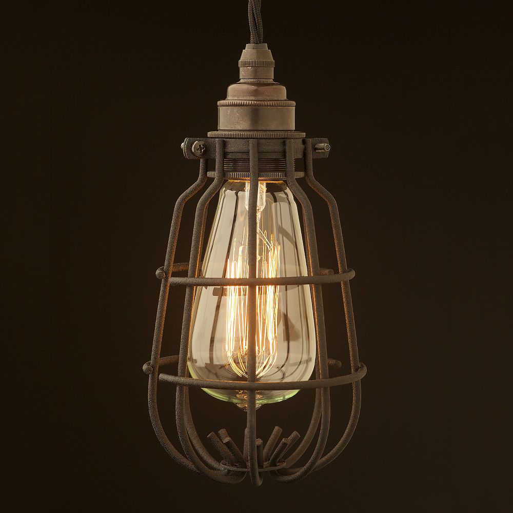 lighting cage. Enclosed Bulb Cage Pendant Lighting R