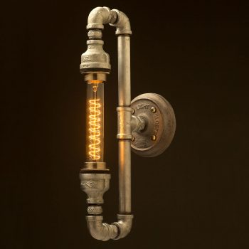 Plumbing pipe tube bulb loop light