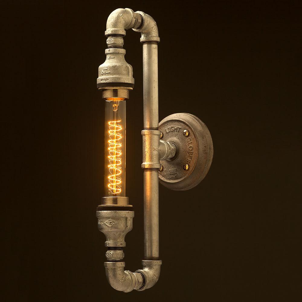 Plumbing pipe tube bulb loop light for Pipe in pipe plumbing