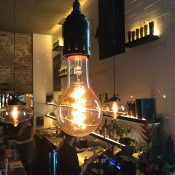 Camus Restaurant use Vintage Edison Globes in Northcote