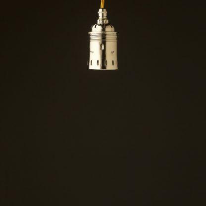 Edison style light bulb E40 Nickel pendant