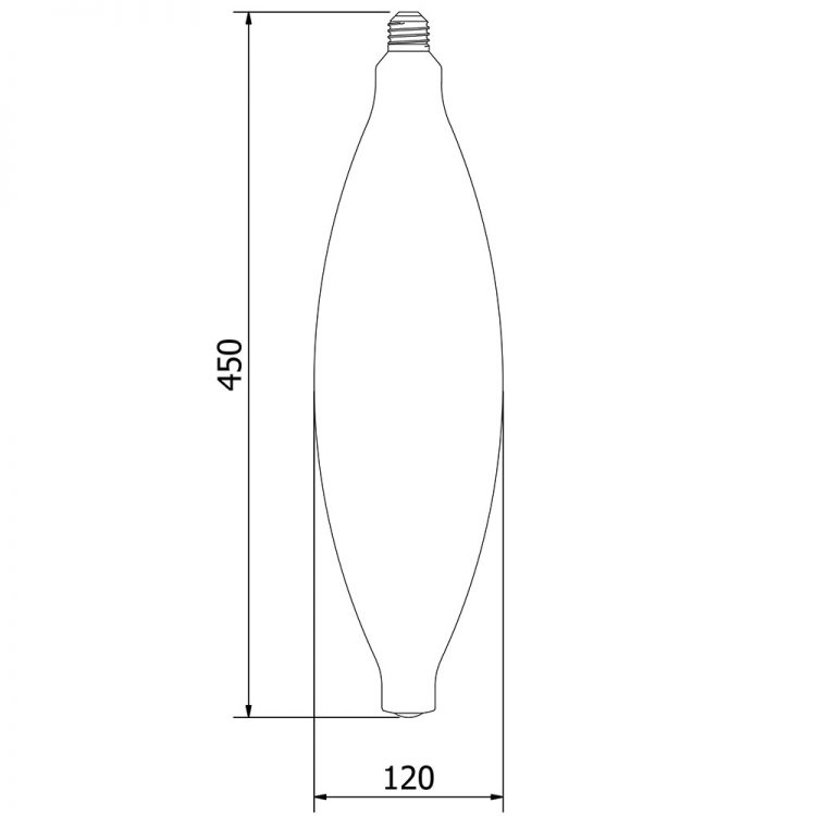 10 Watt Dimmable Filament LED CT 120