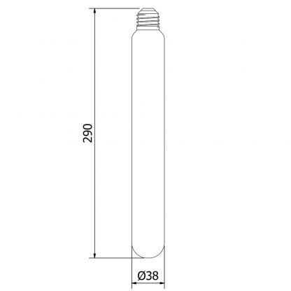 E27 290mm T38 soft filament LED