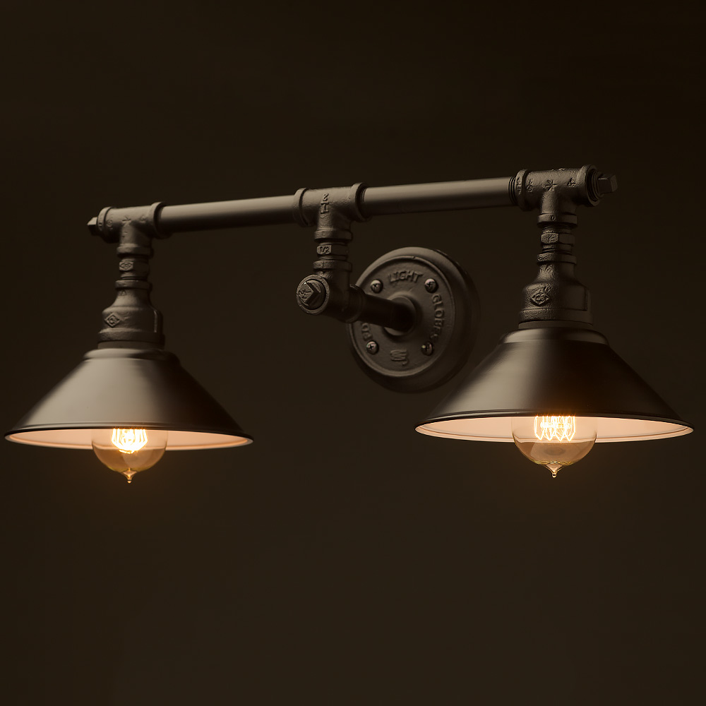 Plumbing pipe double wall shade lamp mozeypictures Images