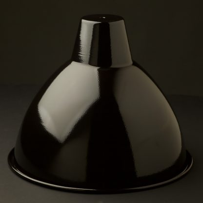 360mm Black enameled dome factory shade