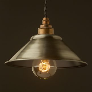 Antiqued steel light shade 190mm Pendant