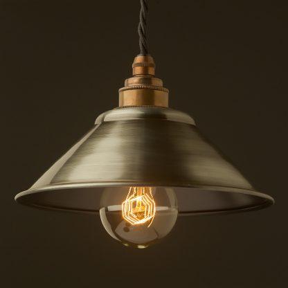Antiqued steel light shade 190mm Pendant