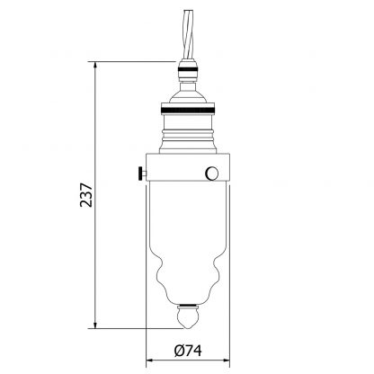 Cast nickel brass pin insulator No430 Amber SES pendant