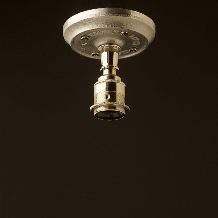 Solid cast aluminium and nickel brass batten holder E27