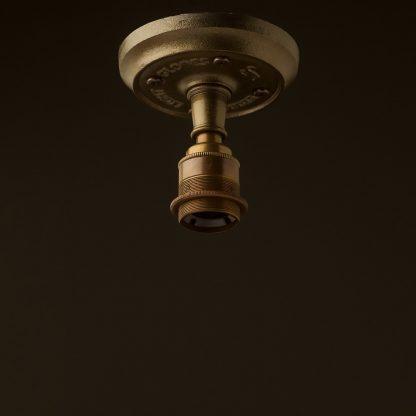 Solid cast iron and brass batten holder E27