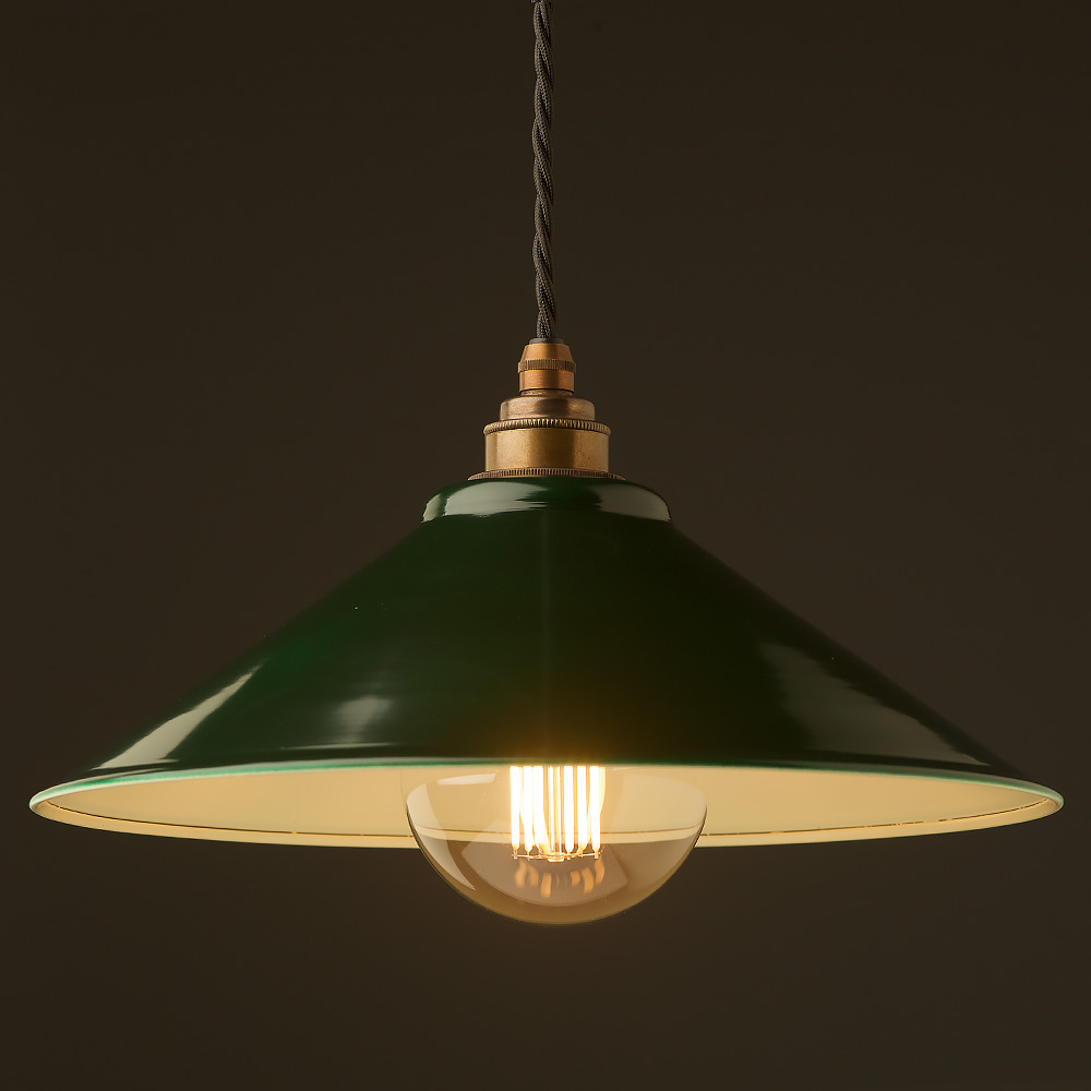 Dark green steel light shade 310mm pendant mozeypictures Image collections