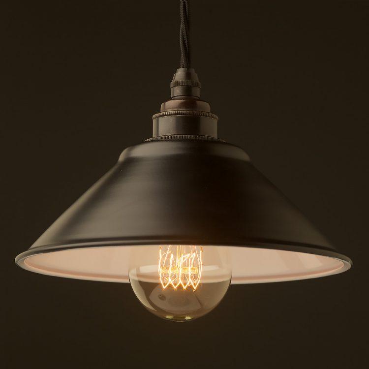 Flat Black light shade 190mm Pendant
