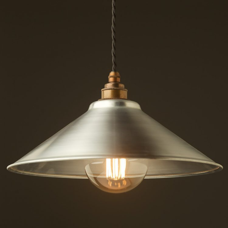 Galvanised steel light shade 310mm Pendant