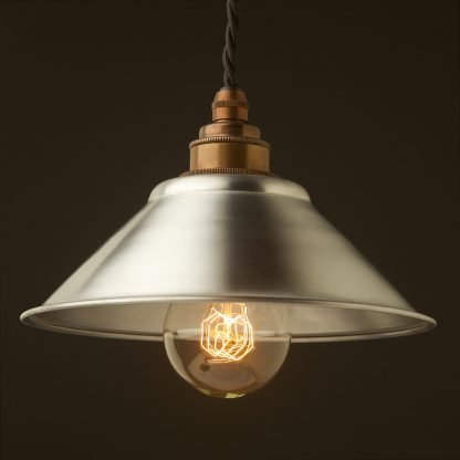 Galvanised steel light shade 190mm Pendant