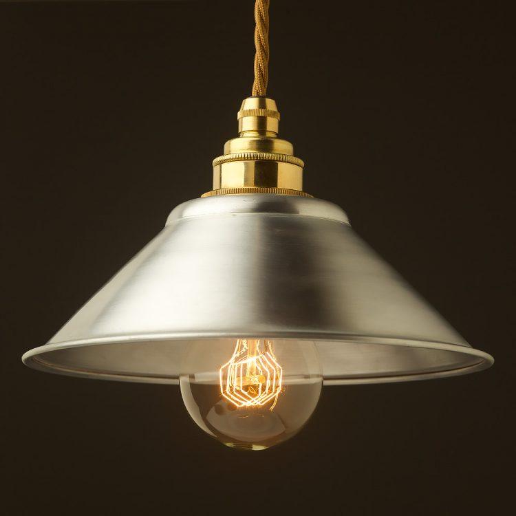 Galvanised steel light shade 190mm Pendant