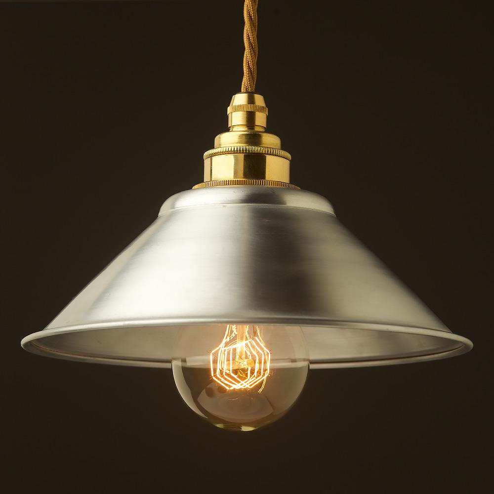 Galvanised steel light shade 12mm Pendant