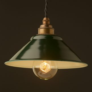 Green steel light shade 190mm Pendant