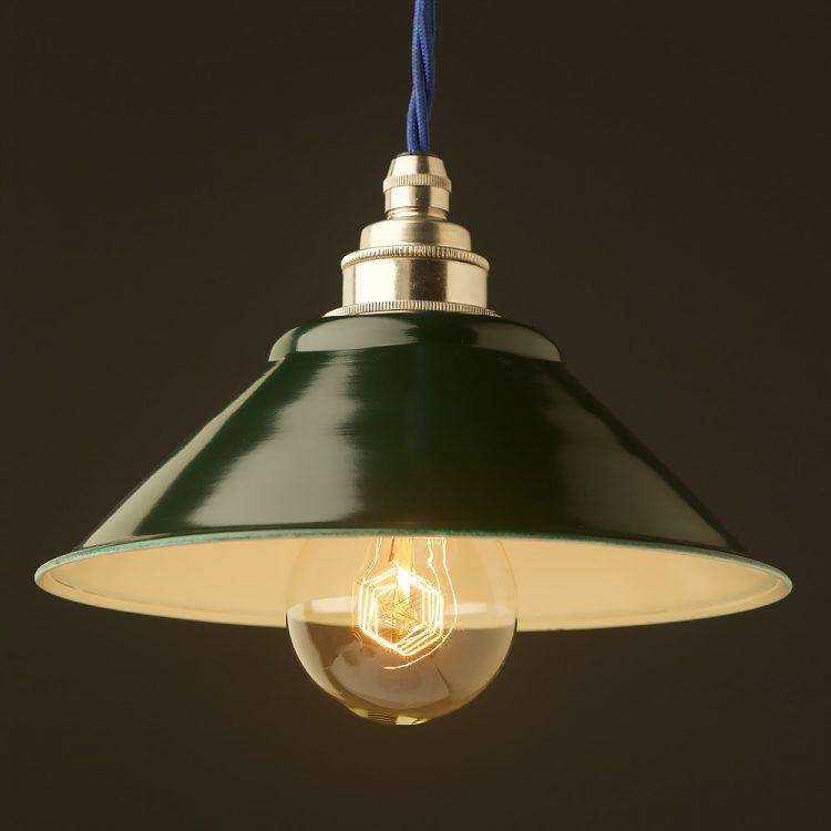 Green steel light shade 190mm Pendant