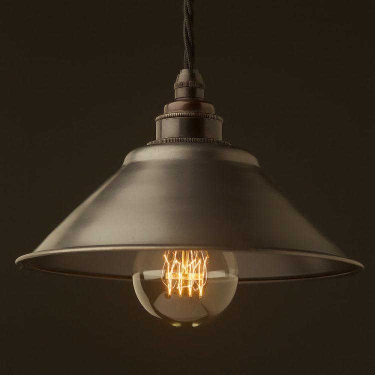 Rustic steel light shade 190mm Pendant