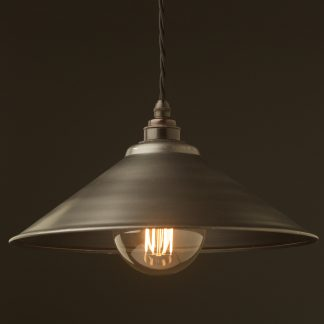 Rustic steel light shade 310mm Pendant