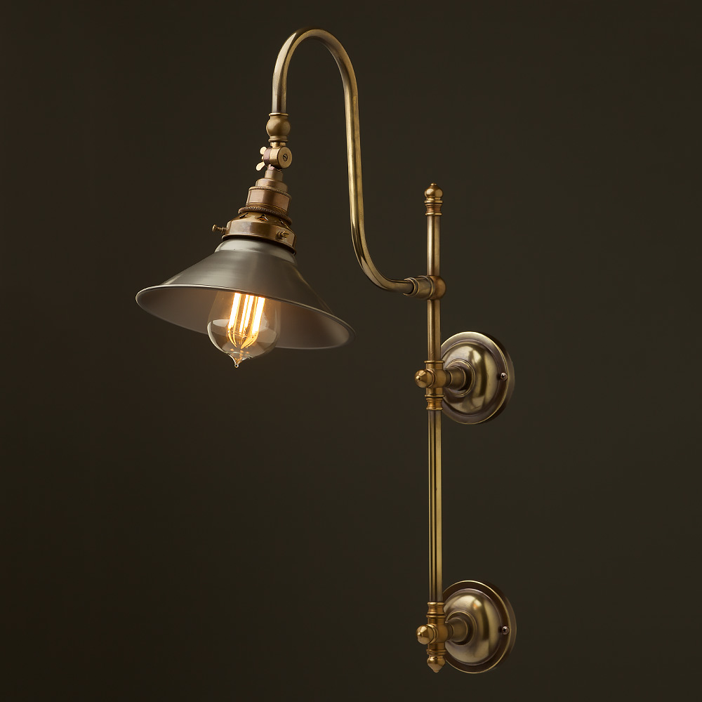 interior wall lighting fixtures. Antique Brass Adjustable Arm Wall Mount Shade Interior Lighting Fixtures Z