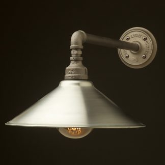 Large Shade Straight Arm Wall Light