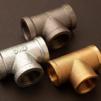 Half inch plumbing pipe tee