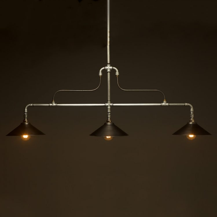 Braced Plumbing Pipe Billiard table light