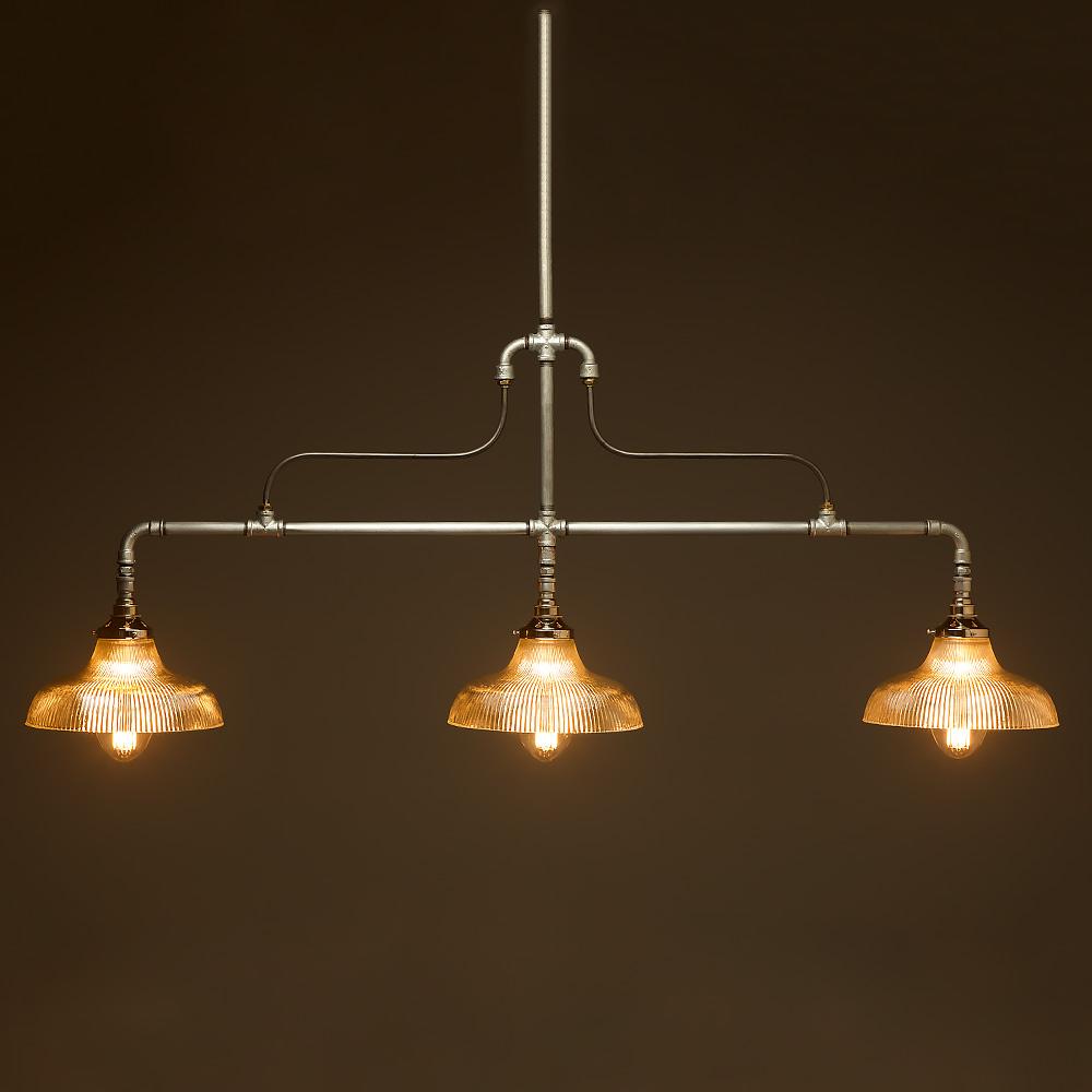 Braced Plumbing Pipe Billiard Table Light