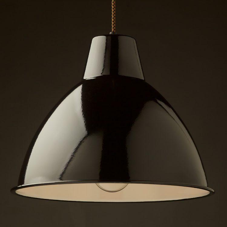 360mm Black enamel dome factory shade bakelite pendant