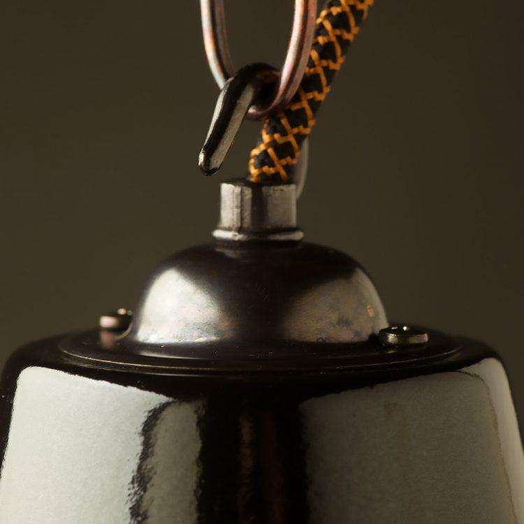 360mm Black enamel dome factory shade brass hardware pendant