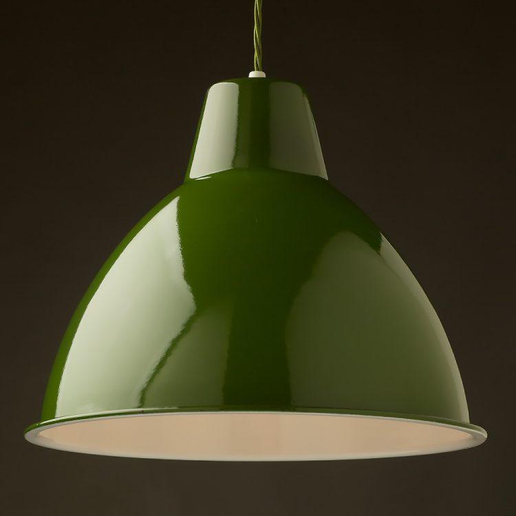 360mm Green enamel dome factory shade Bakelite pendant