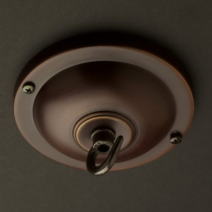 115 mm bronze cord grip ceiling plate with hook