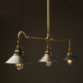 Antique Brass single drop Billiard Table Light steel hat