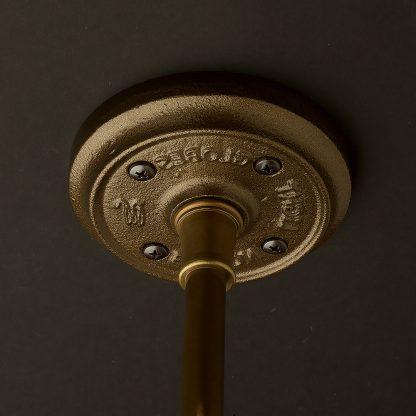 Antique brass cast ceiling plate