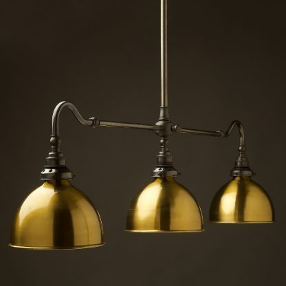 Bronze single drop Billiard Table Light brass dome