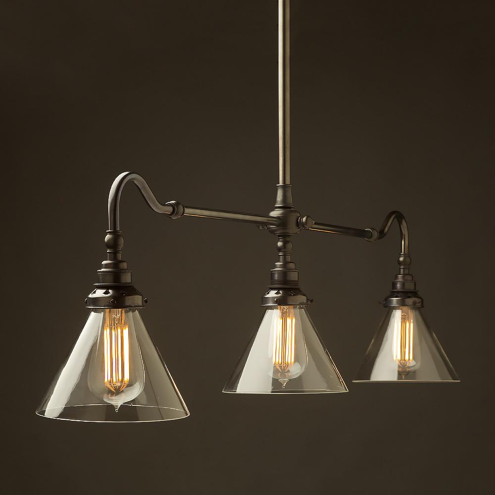 Bronze Single Drop Billiard Table Light