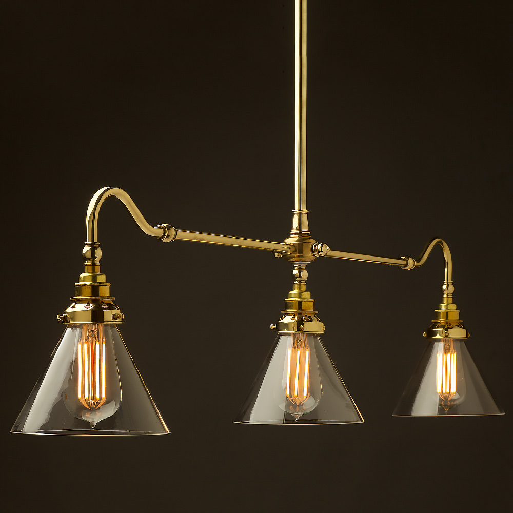 New Brass Single Drop Billiard Table Light