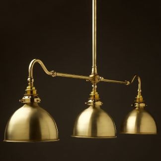 New Brass single drop Billiard Table Light polished brass dome