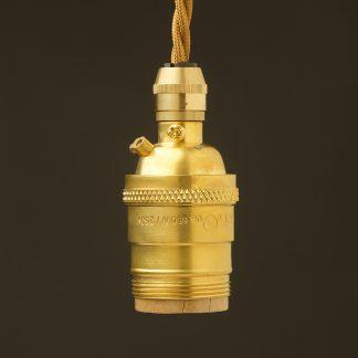 New brass E26 Cordgrip Pendant Socket UNO thread