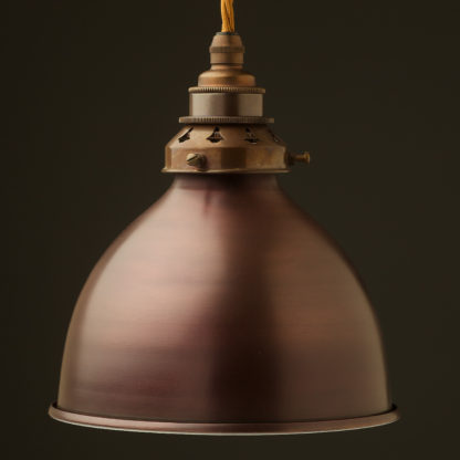 Bronze dome light shade pendant antique brass