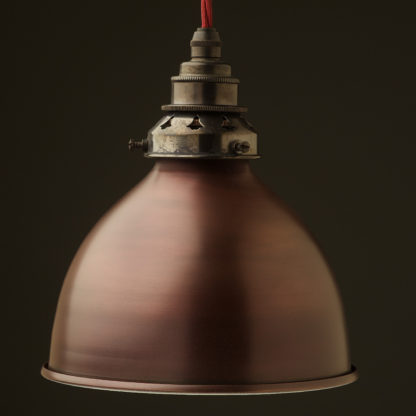 Bronze dome light shade pendant bronze brass