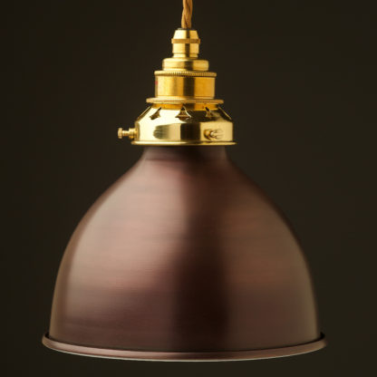 Bronze dome light shade pendant new brass