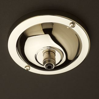 Nickel plate brass cord grip ceiling plate 115 mm