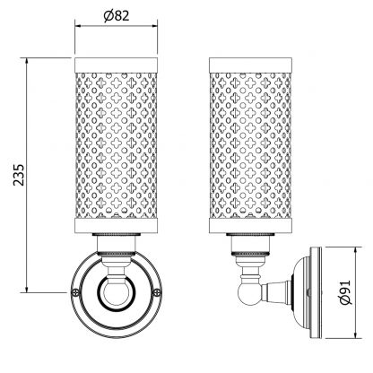 medium bulb club and round upright wall lamp dimensions